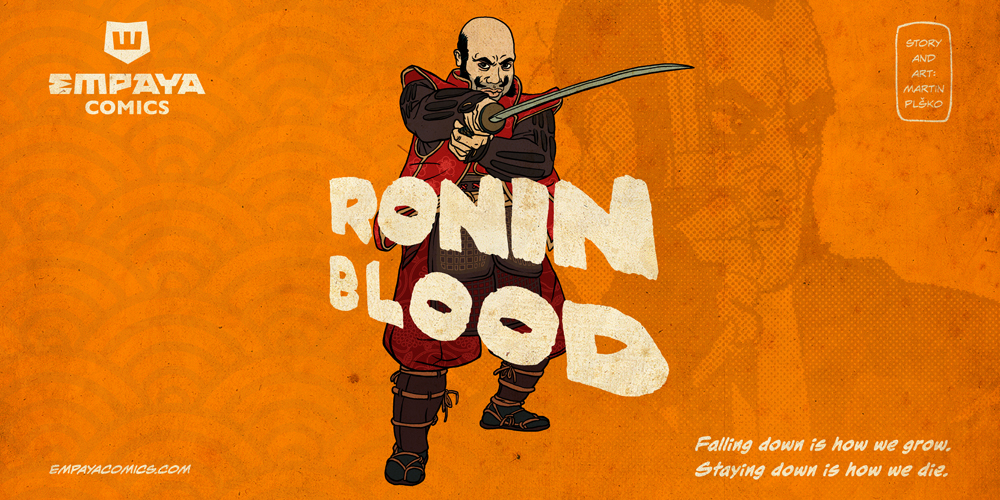RONIN BLOOD promo art: Falling Down by burningflag