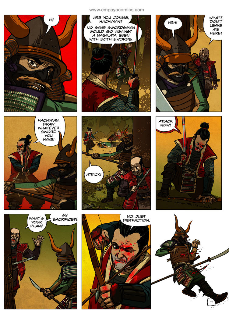 Ronin Blood, issue2, page 11 by burningflag