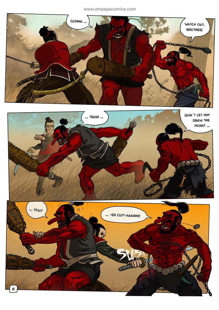 Ronin Blood, issue1, page 8 by burningflag