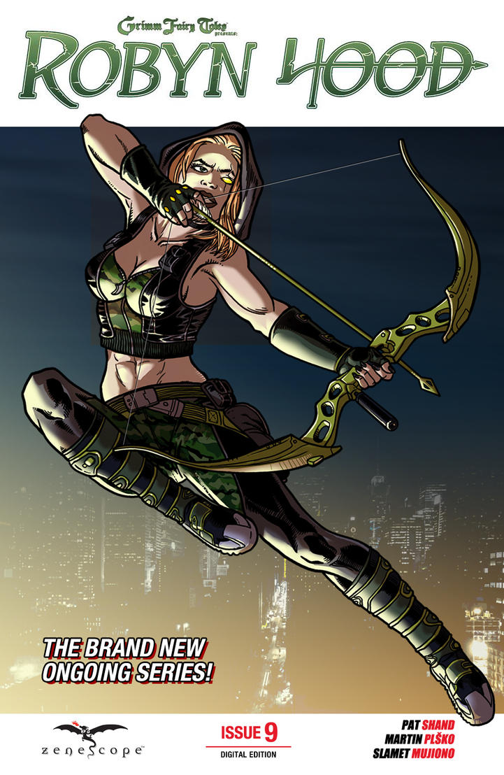 Robyn Hood, mock-up cover version by burningflag