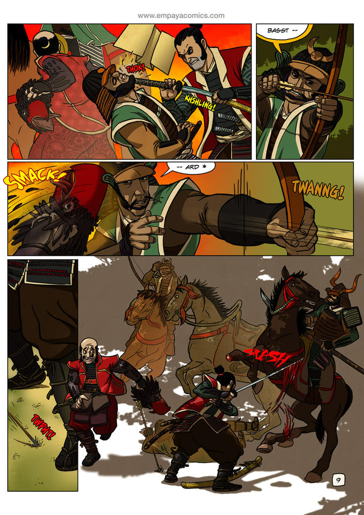 Ronin Blood, issue2, page 9 by burningflag