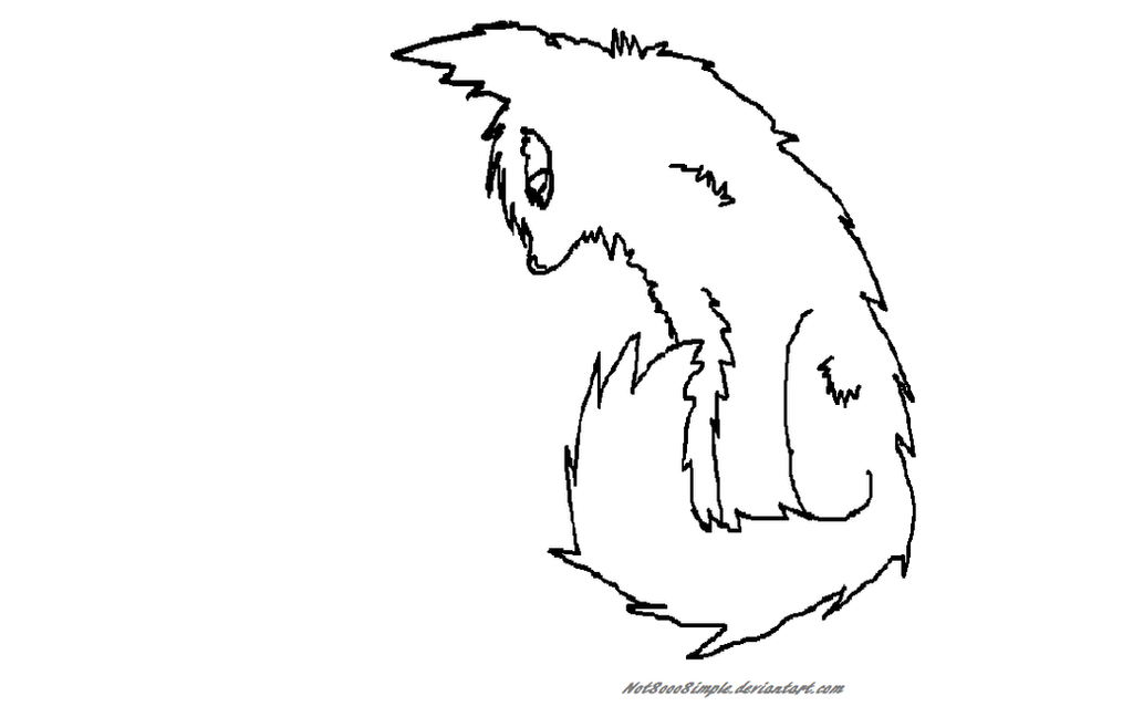 Warrior Cat Clan Base Warrior Cat Lineart Base by