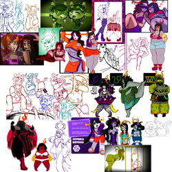 HIVESWAP: HUGE JUMBLE OF DOODLES!! by LilMissPunchingBag