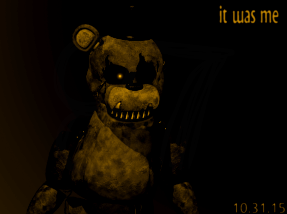 how to draw nightmare golden freddy