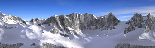 Mountain with snow WIP by brektzar