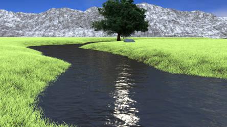 Landscape scene 1 by brektzar