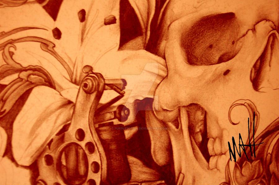 Skull Tattoo Machine By Purplebeetle