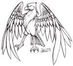 Bird:Lineart by stephi-JK