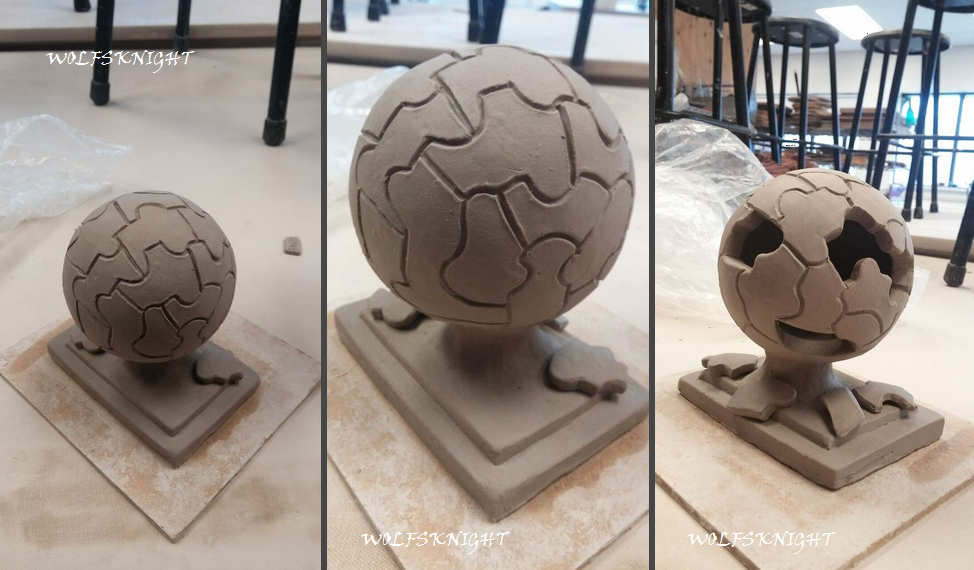 Globe Scupture - WIP by WolfsKnight