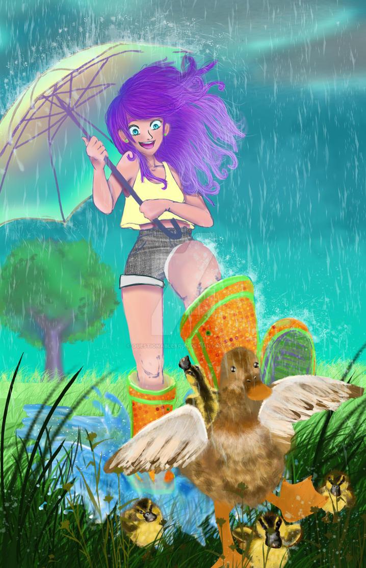 rain girl by Questionablexfun
