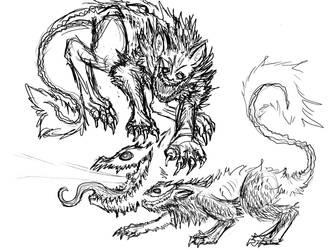 beasts doodles by Questionablexfun