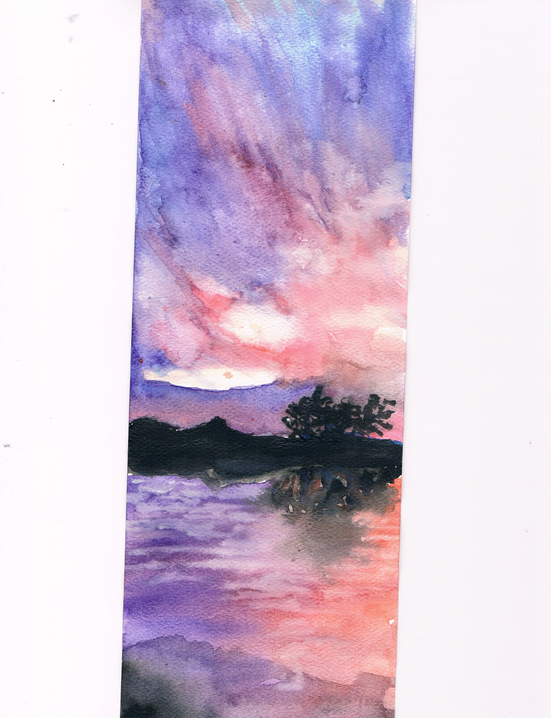 Watercolor Lake by AlthaeaBuddy