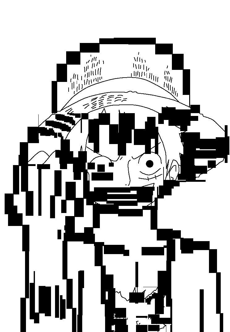Luffy Lineart : Monkey d luffy lineart by gajeelredfox on deviantart