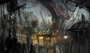 City at Night by KrayTSAO