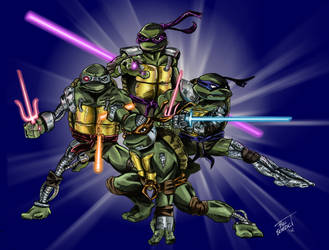 Cyborg Turtles in time