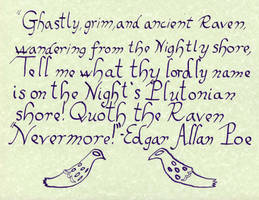 Calligraphy - Egar Allen Poe Quote by InvaderBlitzwing