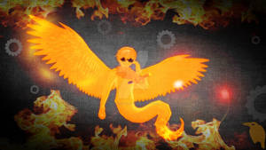 MMD Homestuck - DaveSprite in the Fire and Flames
