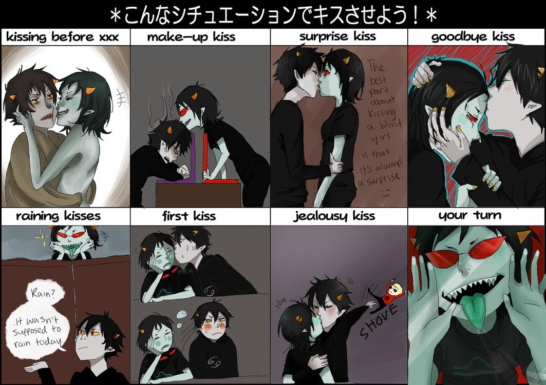 karkat/terezi kiss meme by frillium