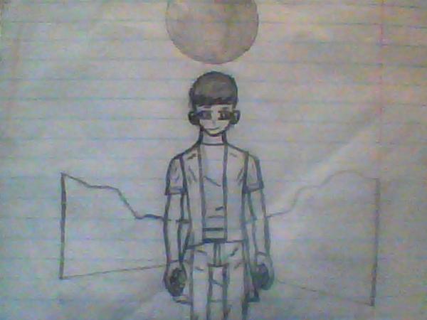 Cool Anime Boy Drawing By Herodragobot