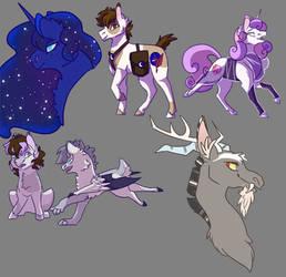 Sketch Dump: Luna's Court by NightshadeTheRanger