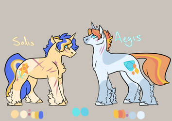 [Nextgen] Solis and Aegis by NightshadeTheRanger