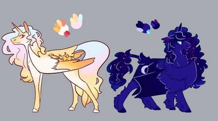 Pretty Pastel Space Horsies by NightshadeTheRanger