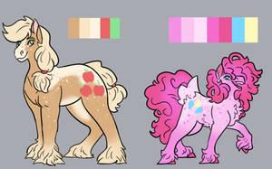 Pretty Pastel Horsies (Mane 6 done!) by NightshadeTheRanger