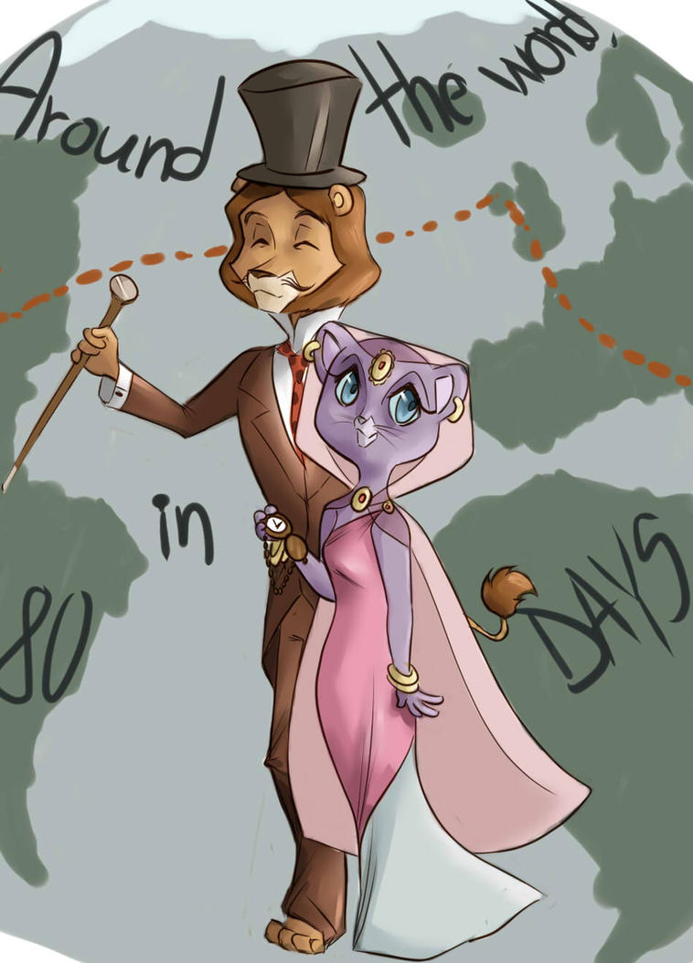 Around the World in 80 Days(with Willy Fog) by pink4ever4u