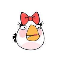 Angry Bird - Girl White Bird by life-as-a-coder