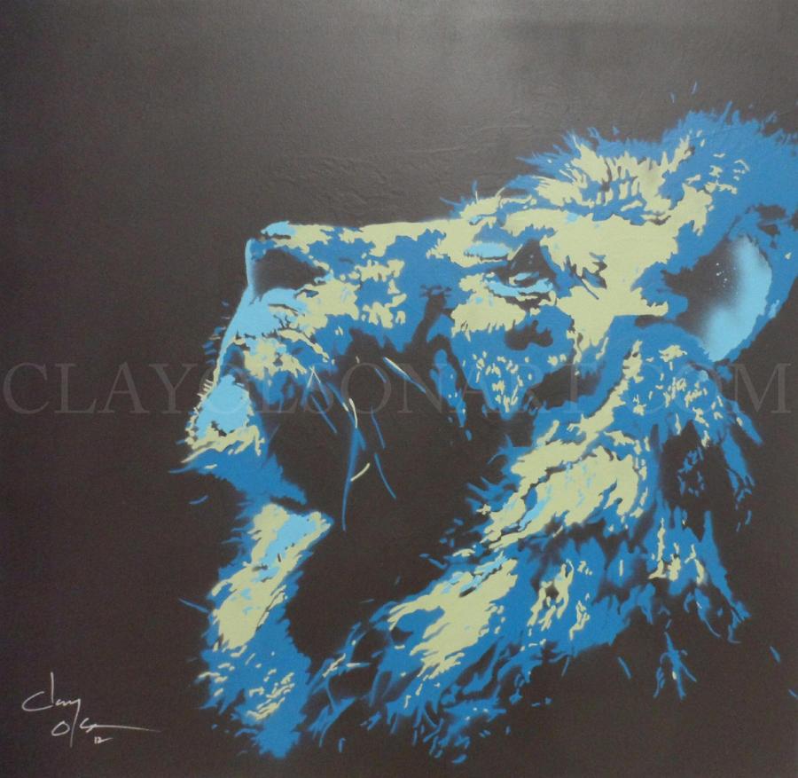 lion by clayolsonart