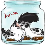 Ari in a jar by ValiantChickieAri