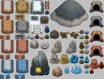 HGSS Tileset_Mountains Rocks by ThunderDove