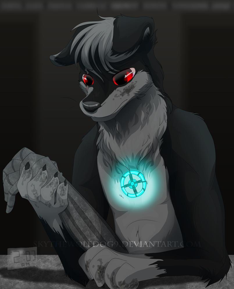 Commission    Hard at Work by Skythewolfdog9