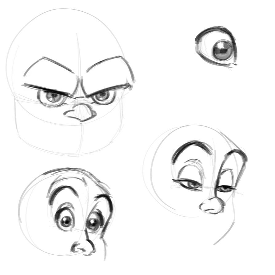 Cartoony Eyes Practice by marilu597