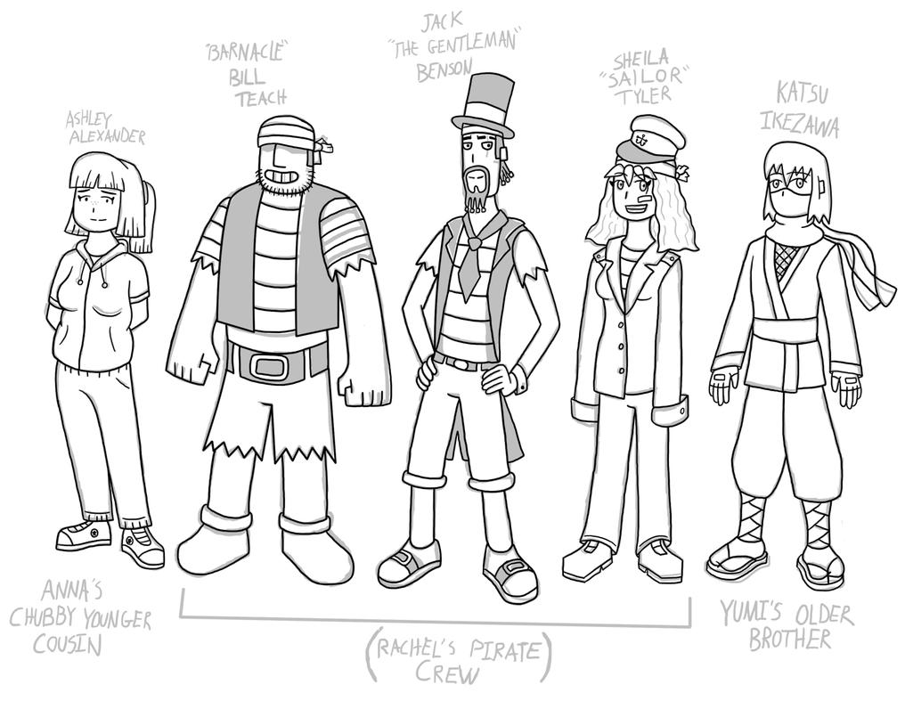 JK's Side Characters Concepts by fretless94