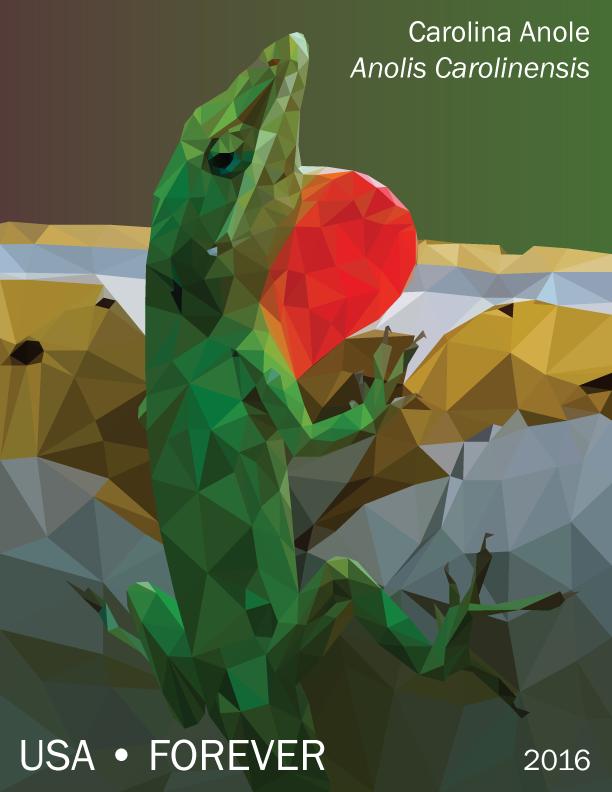 Polygon Carolina Anole by fretless94