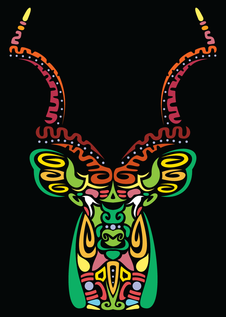 Tribal Antelope Poster by fretless94
