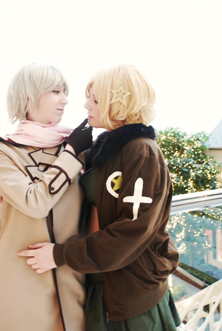 APH: Just a kiss.. by Titanicfreek