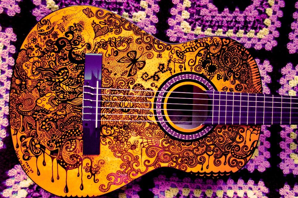 Guitar Tumblr Drawing Guitar Drawing By...1000