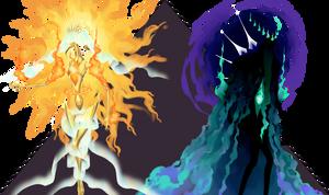 Aurea and Atros, True Forms