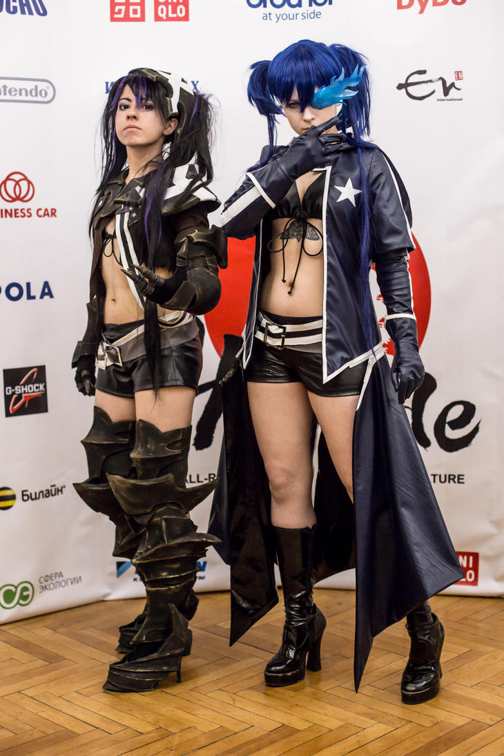 Black Rock Shooter and Insane Rock Shooter Cosplay by RubeeAmadare