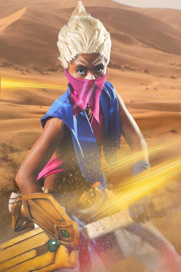 Sandstorm Ekko cosplay - League of Legends by RubeeAmadare