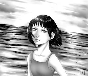 A Girl on the Shore by Heba-chan