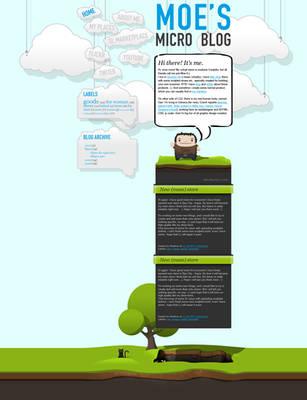 Moe's micro blog design by dan-Es