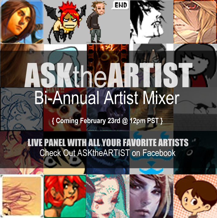 ASKtheARTIST: Bi-Annual Artist Mixer Panel by thefluffyshrimp