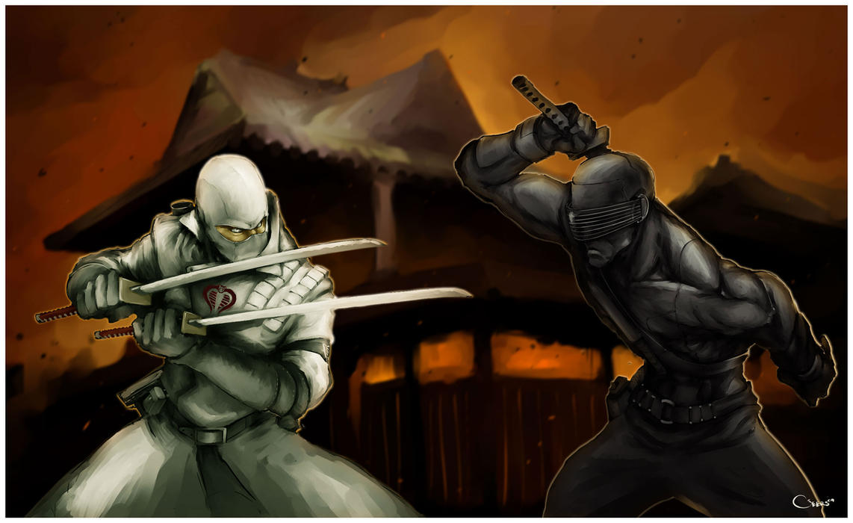 Gi Joe Retaliation Snake Eyes Vs Storm Shadow Snake Eyes vs Storm Sh...
