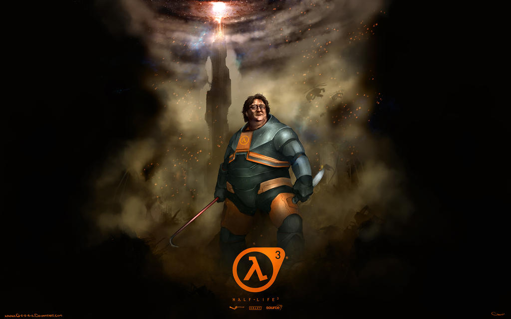 gabe newell half life 3 wallpaper 2560x1600 by darrengeers