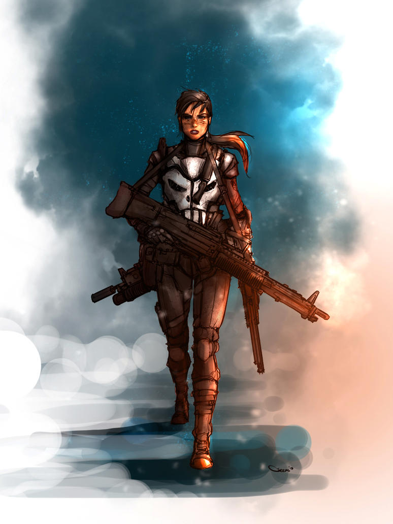Female Punisher by DarrenGeers