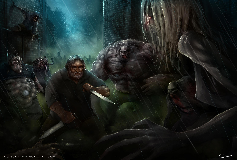 Gabe Newell, left 4 dead by Darren Geers