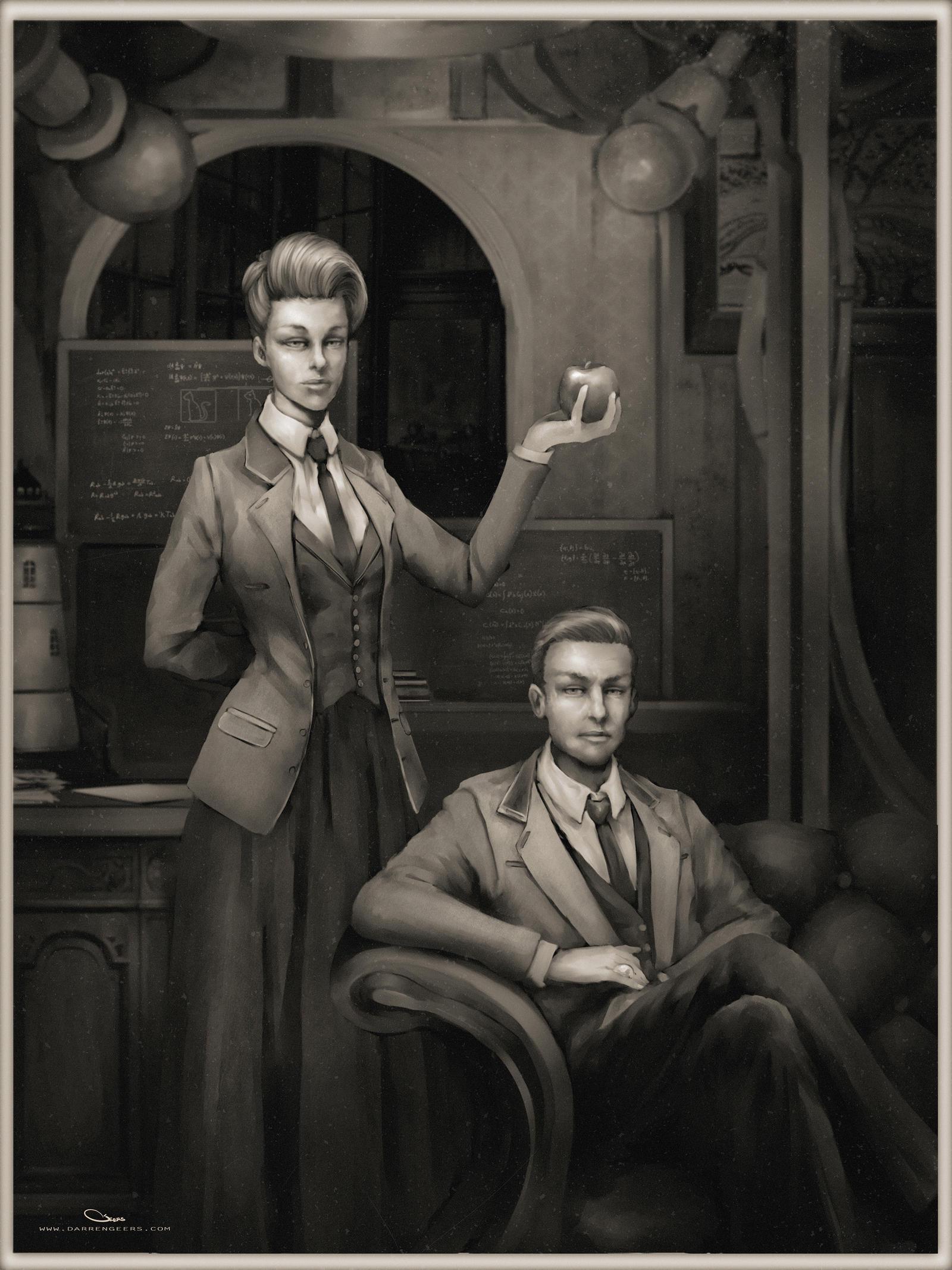 Rosalind and Robert Lutece by DarrenGeers